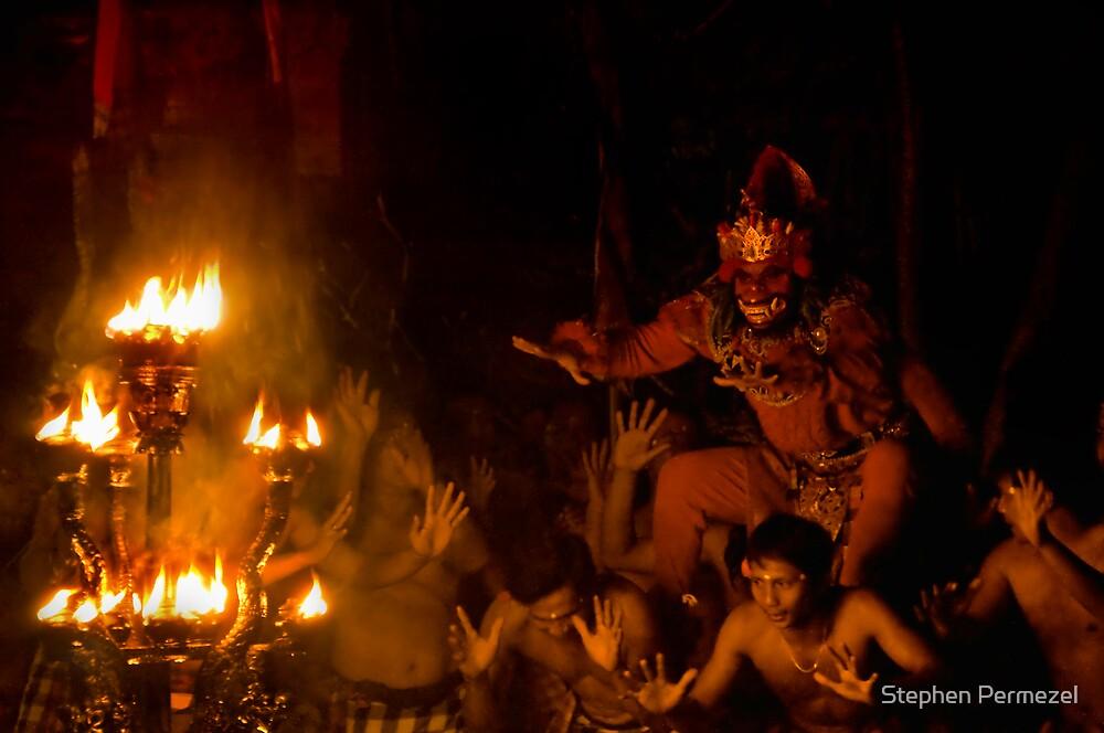 Monkey Dance - Ubud, Bali by Stephen Permezel