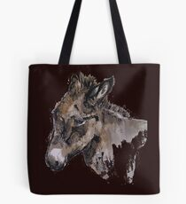 Tom, ink & watercolour donkey Tote Bag