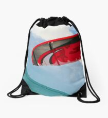 Kite boarder and red kite Drawstring Bag