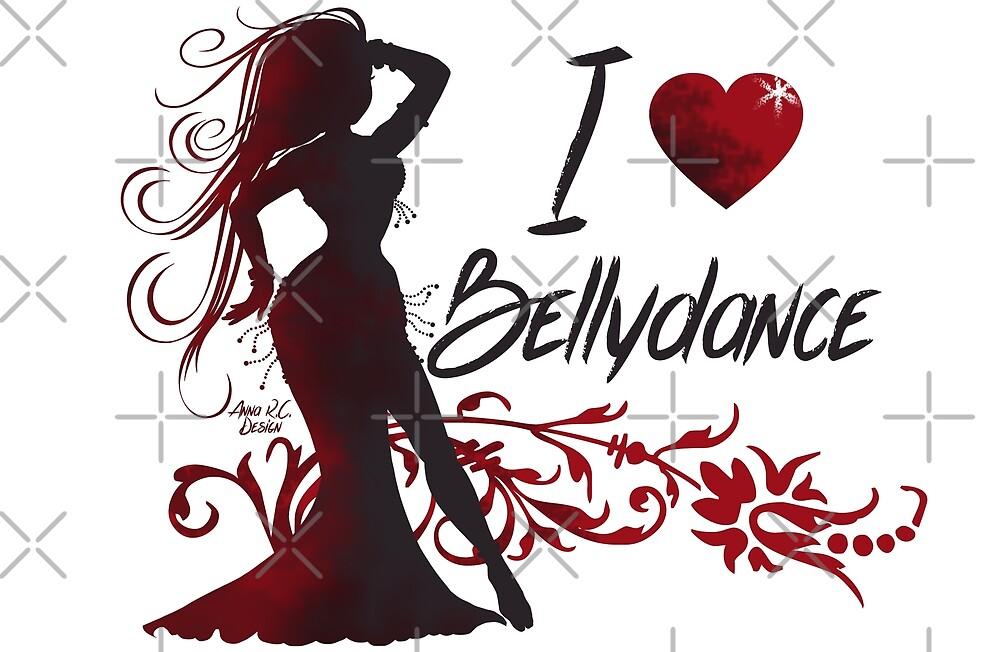 Bellydancer Silhouette by Anna R. Carrino