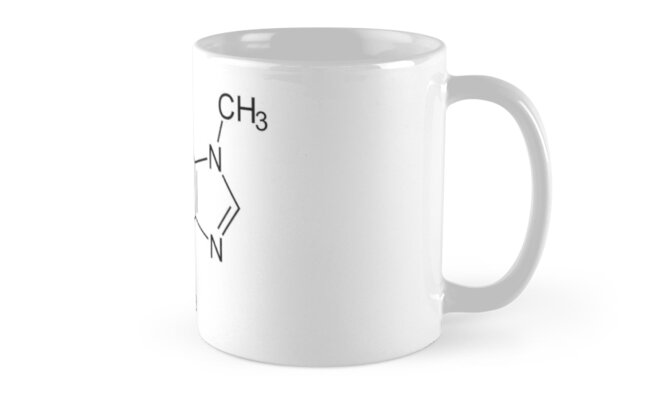 Caffiene Chemical Compound by Marty Armstrong