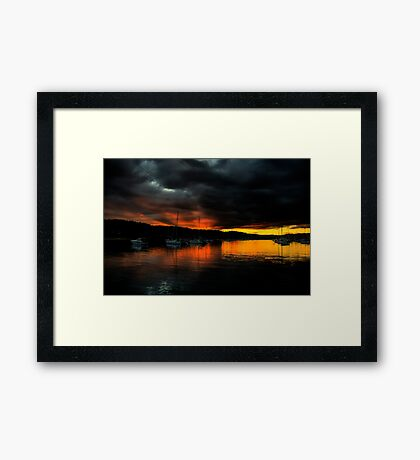 Darkness Falls  - Newport - The HDR Series Framed Print