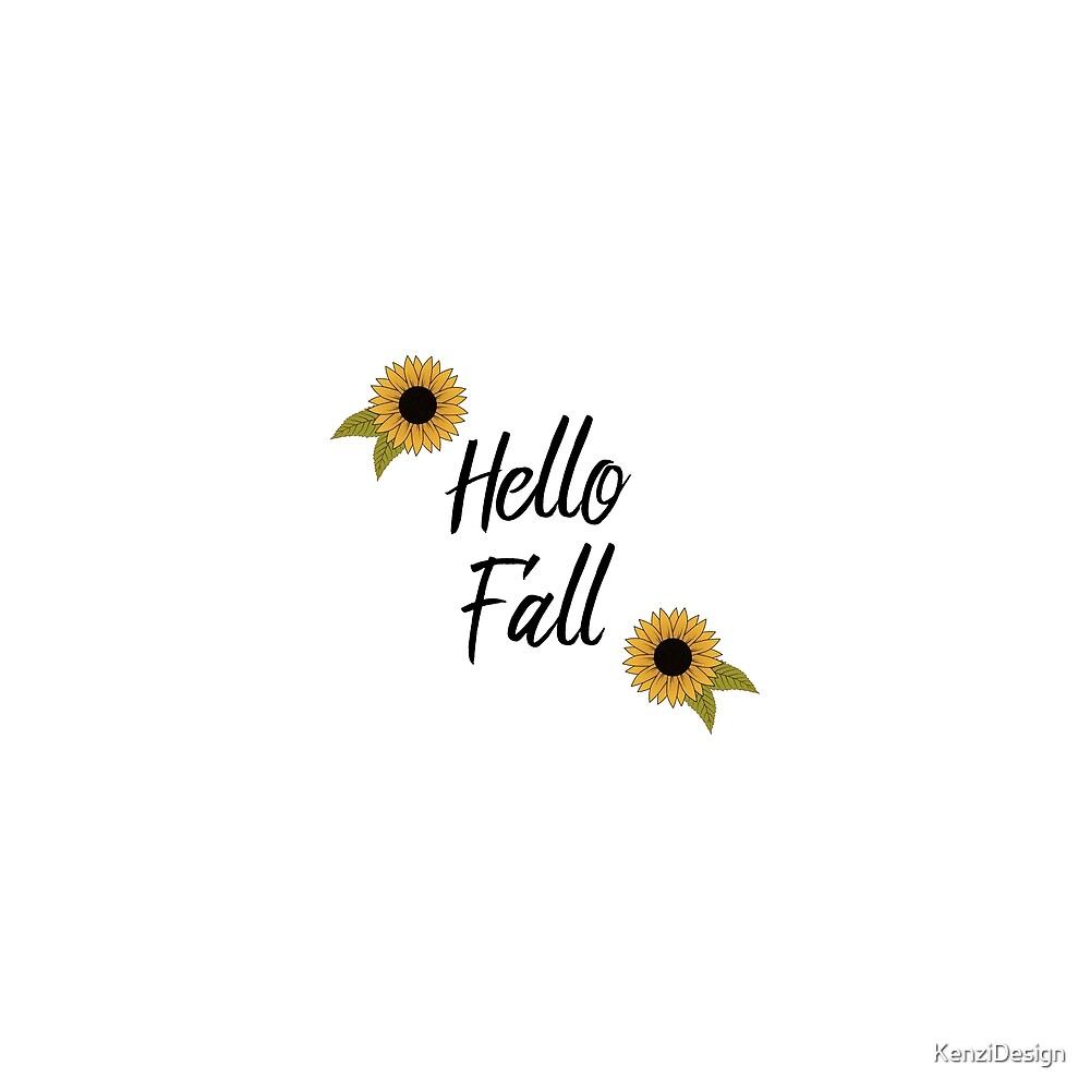 Sunflower Fall by KenziDesign