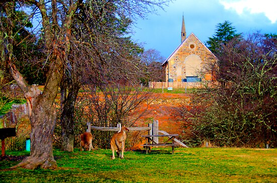 Church Service - Hill End - The HDR Series by Philip Johnson