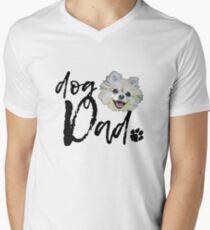 Dog Breed Pomeranian Dad Men's V-Neck T-Shirt
