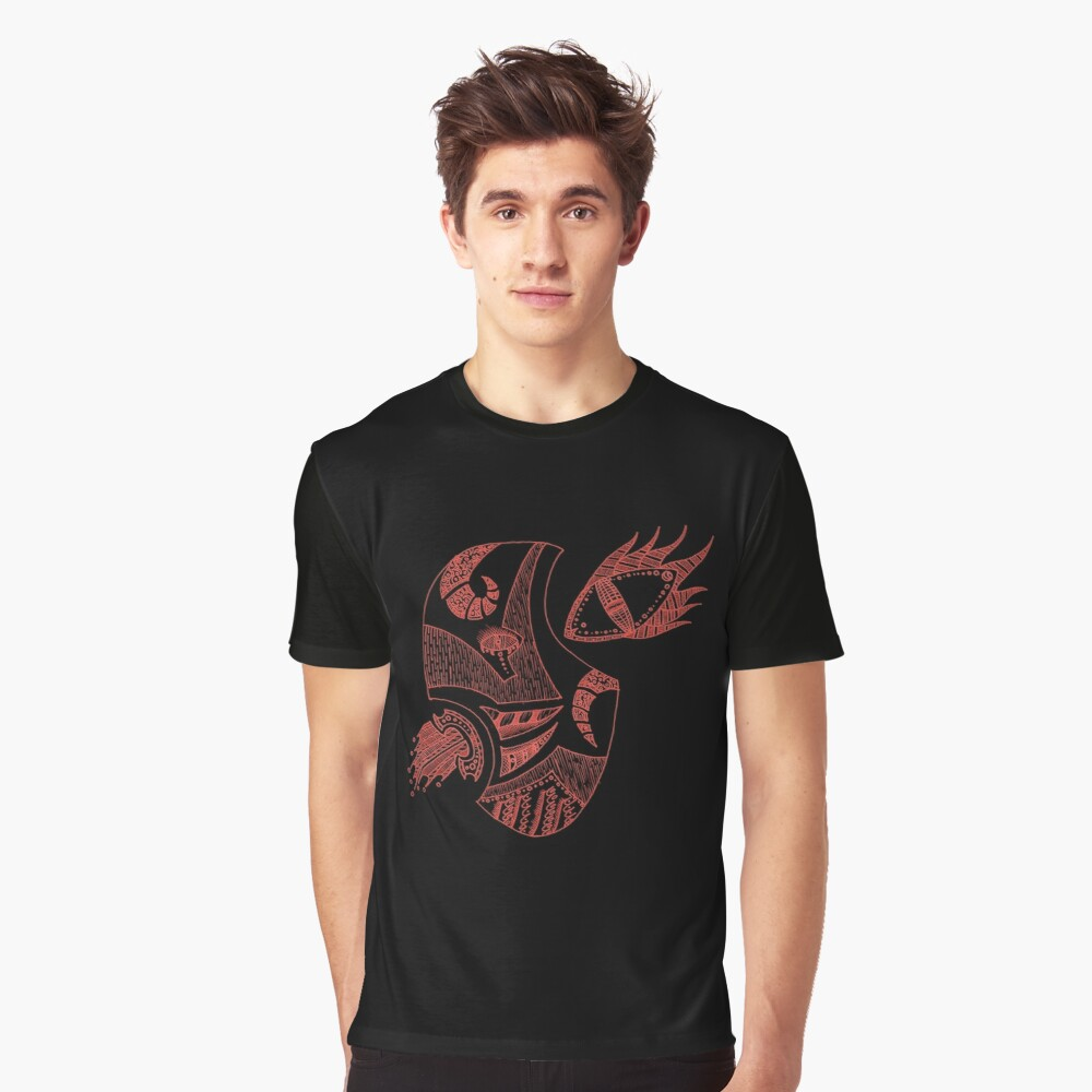 Red Contradiction Graphic T-Shirt Front