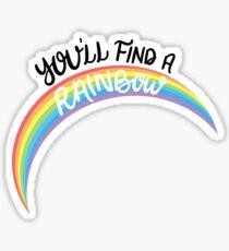 Kesha - Rainbow (Black Font) Sticker