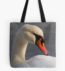 swan at lake Tote Bag