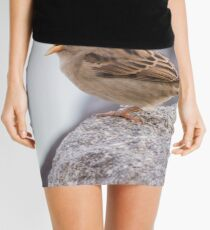 bird at lake Mini Skirt