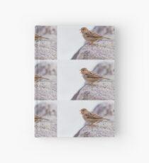 bird at lake Hardcover Journal