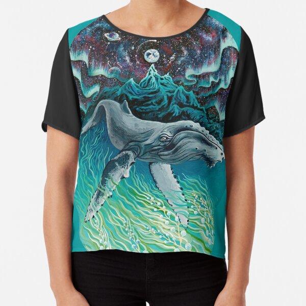 Whale Northern Lights Chiffon Top