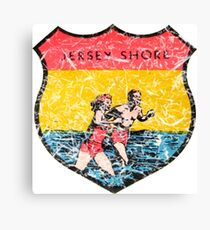 Jersey Shore Vintage Travel Decal Canvas Print
