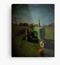 Yesteryear Antique John Deere Tractor on The Farm Metal Print