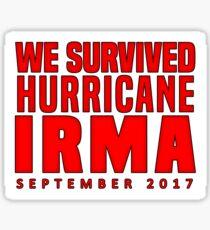 We Survived Hurricane Irma 2017 Sticker Sticker