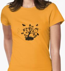 Butterfly Bush Womens Fitted T-Shirt