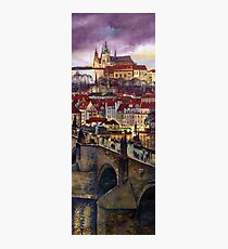 Prague Charles Bridge with the Prague Castle Photographic Print