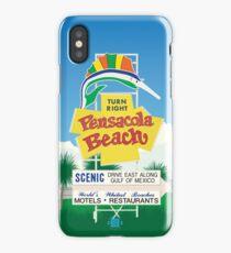 """Pensacola Beach Sign"" iPhone Case/Skin"