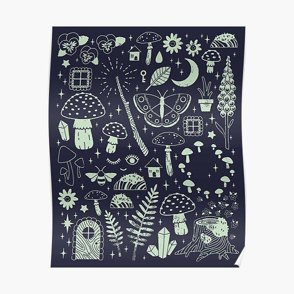 Fairy Garden: Midnight Poster