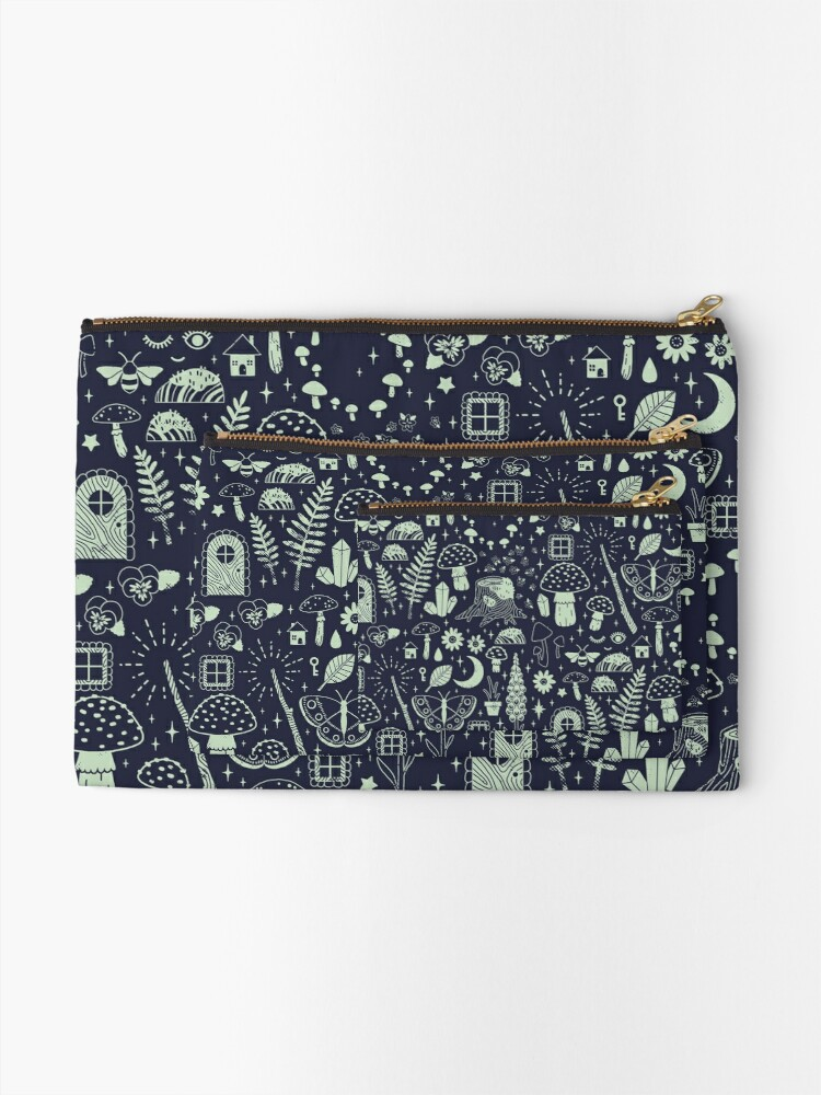 Alternate view of Fairy Garden: Midnight Zipper Pouch