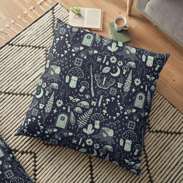 Fairy Garden: Midnight Floor Pillow