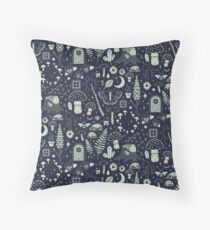 Fairy Garden: Midnight Floor Pillow