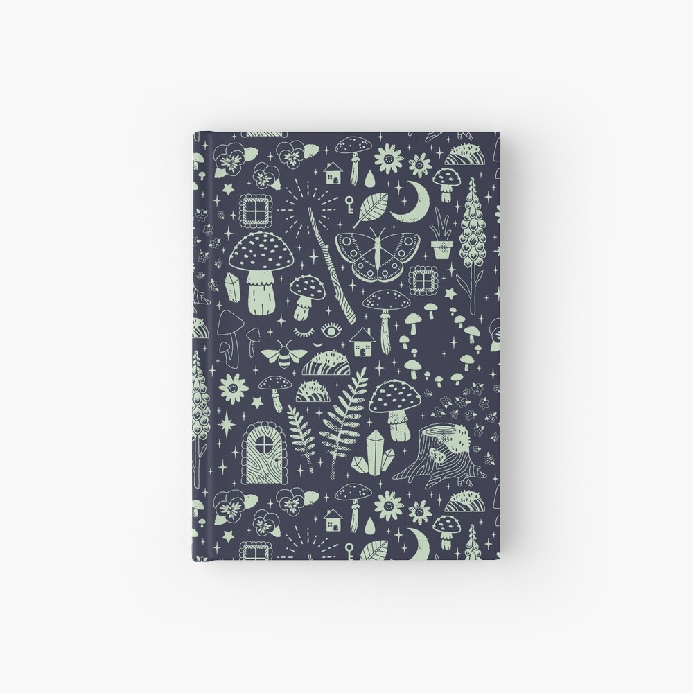 Fairy Garden: Midnight Hardcover Journal
