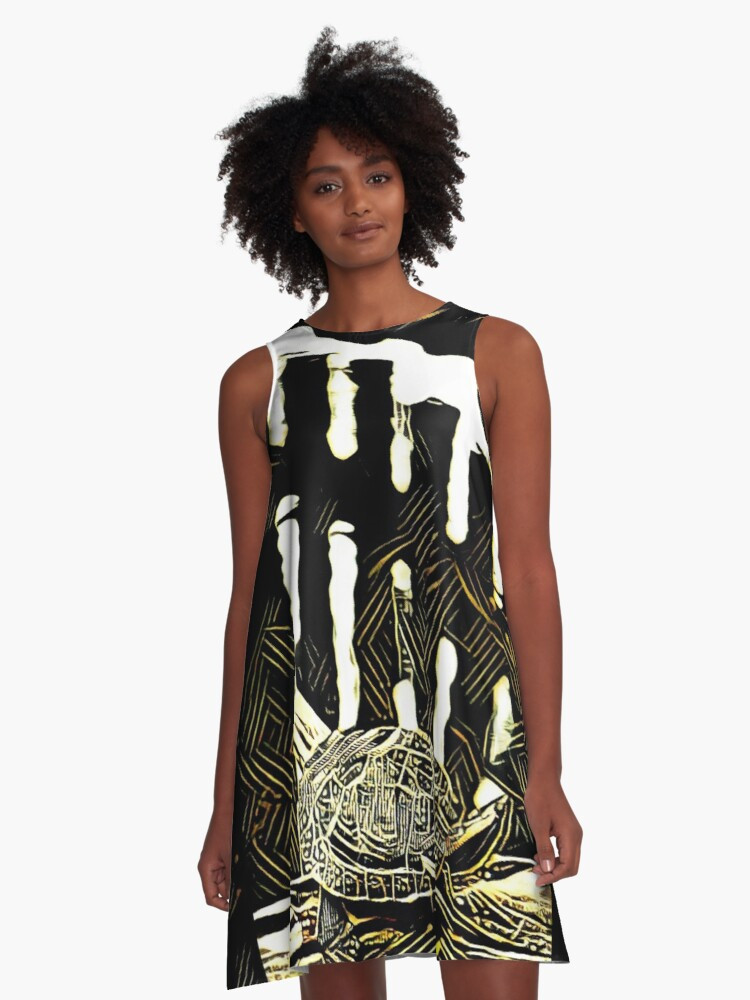 Turtle Crossing A-Line Dress Front