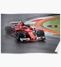 Kimi Raikkonen Ferrari  Poster