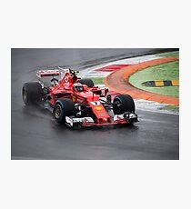 Kimi Raikkonen Ferrari  Photographic Print