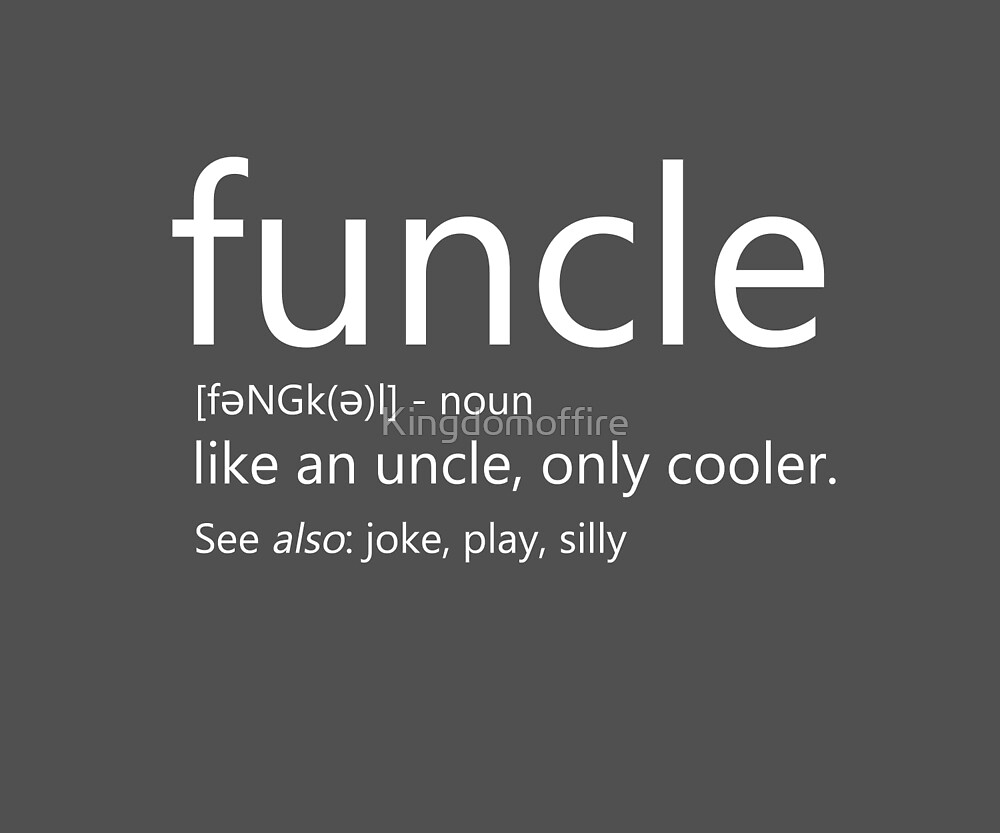 Funcle- White font by Kingdomoffire