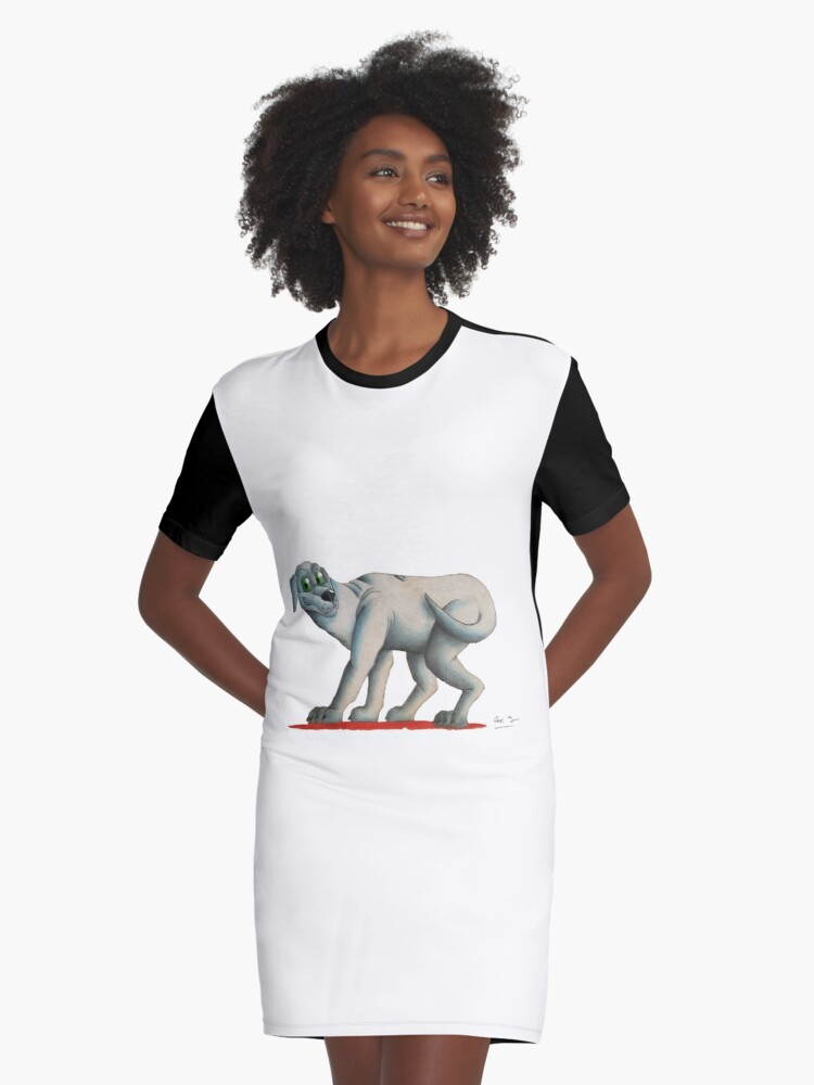 Dog by Eve Graphic T-Shirt Dress Front