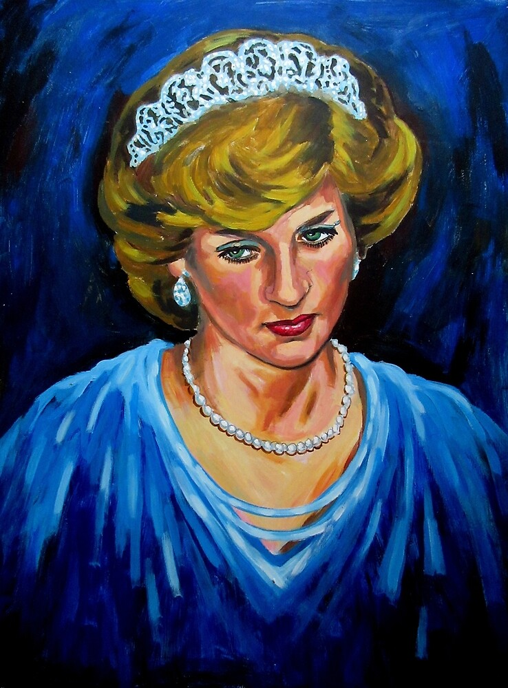 Lady Diana Spencer Painting by Johnhalifax