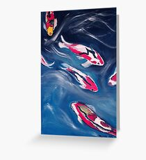 Koi In Motion Greeting Card