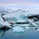 Jokulsarlon Morning Rainbow - Iceland by Adrian Rachele