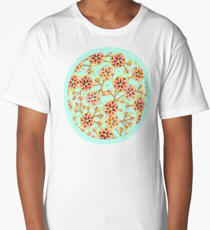Candy Apple Blossom Aqua Long T-Shirt