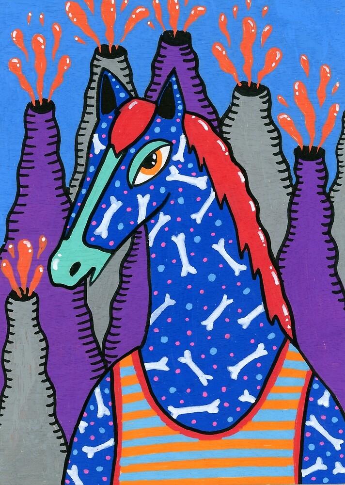 Blue horse  by zsalto