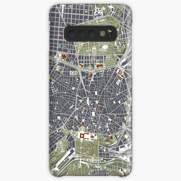 Madrid Stadtplan Gravur Samsung Galaxy Leichte Hülle