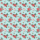 Sweet Florals - blue by abbilaura