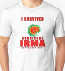I Survived Hurricane Irma Slim Fit T-Shirt