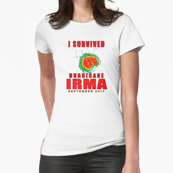 I Survived Hurricane Irma Fitted T-Shirt