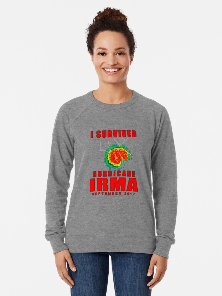 Alternate view of I Survived Hurricane Irma Lightweight Sweatshirt