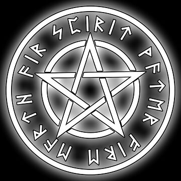 WICCA, White, Pentacle, Pentagram, Witch, Wizard, Modern, Pagan, Witchcraft, Religion, Cult by TOMSREDBUBBLE
