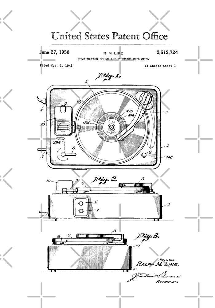 Old Record Player patent by Vesaints