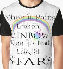 When It Rains-White Background Graphic T-Shirt