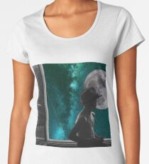 now departing planet earth Women's Premium T-Shirt