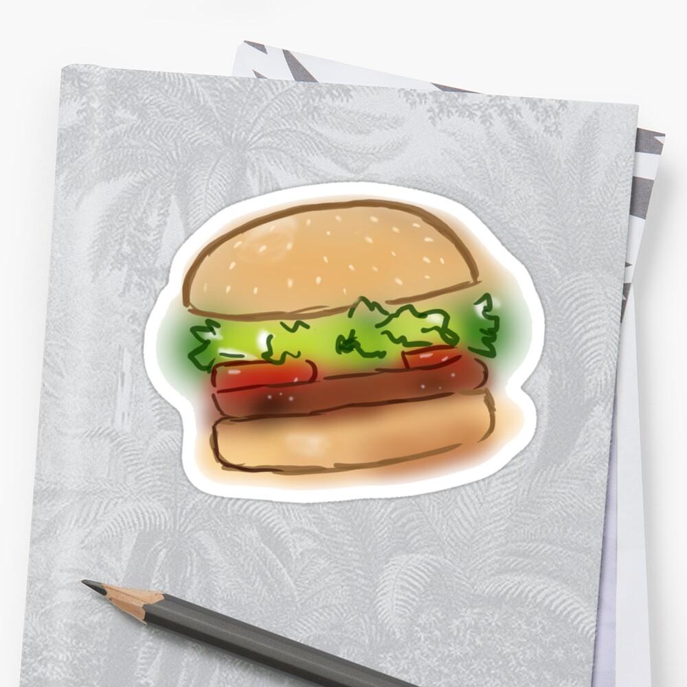 Hamburger doodle by Melanie Lust