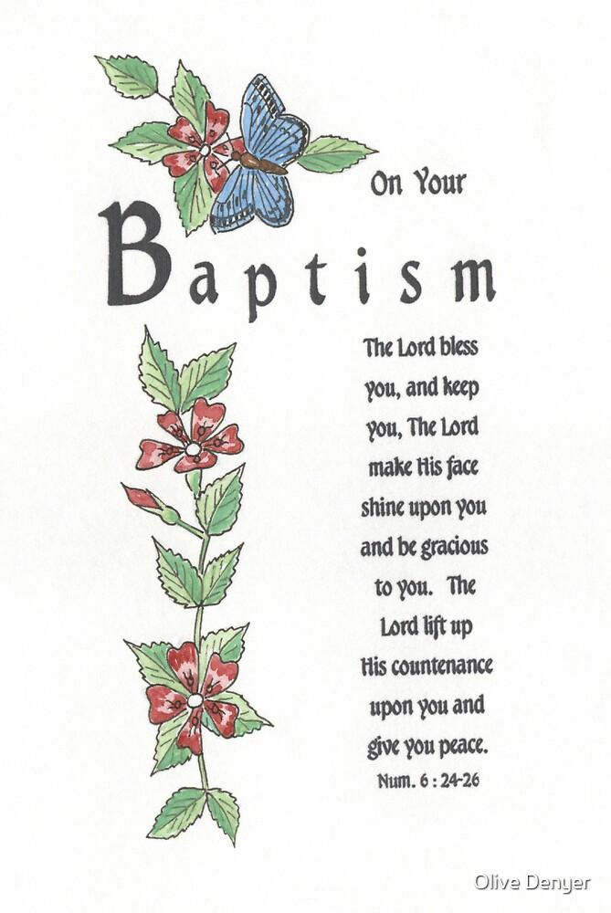 Baptism Card 1 by Olive Denyer