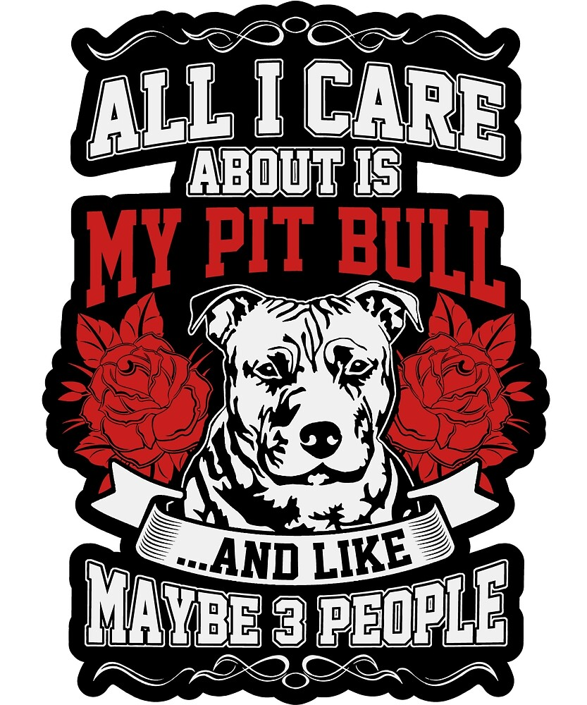 All I Care About Is My Pitbull And Like Maybe 3 Other People Tshirt by sixfigurecraft