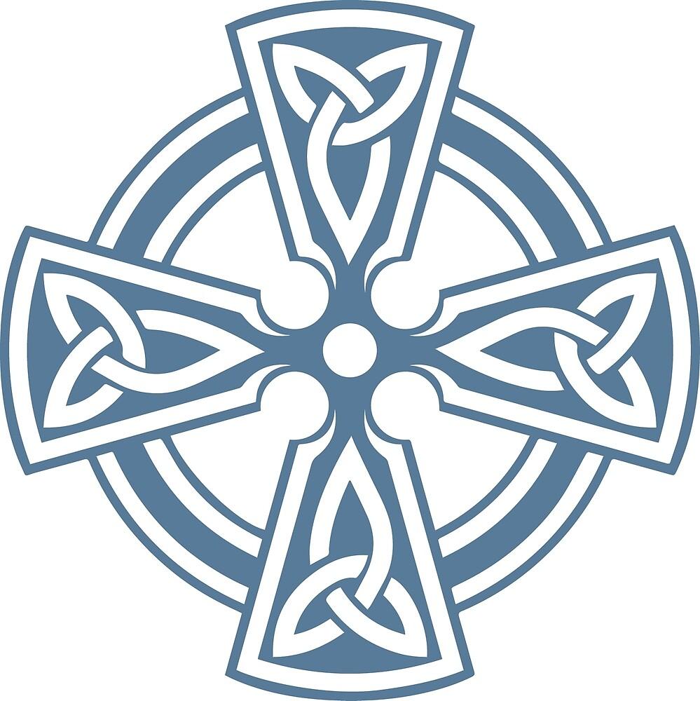 Celtic Cross (Blue) by Richard Wagner