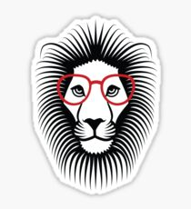 Lion wearing glasses Vector Fun Sticker
